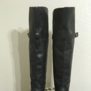 BLACK LEATHER LUCCHESE RIDING BOOTS 7.5 M